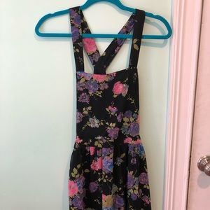Floral and black overall dress!